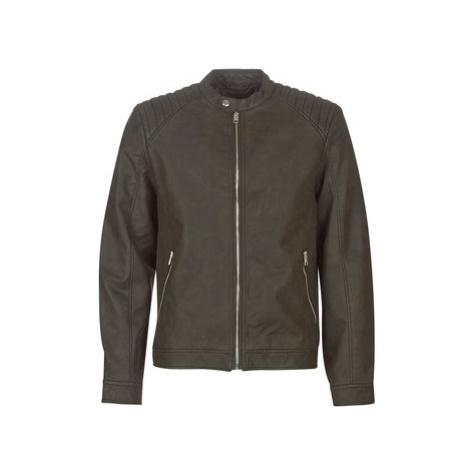 Jack Jones JORSHELBY men's Leather jacket in Black Jack & Jones