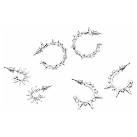 Grey hoop earrings