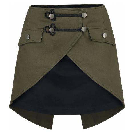 Gothicana by EMP Elenor Short skirt black olive