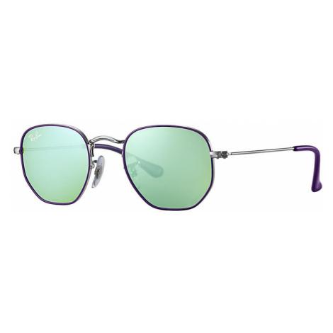 Ray-Ban Hexagonal junior Unisex Sunglasses Lenses: Green, Frame: Silver - RJ9541SN 262/30 44-19