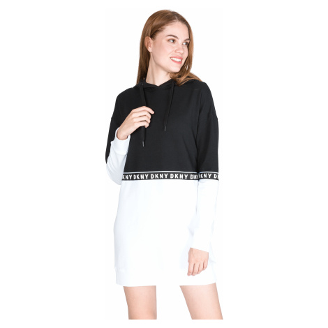 DKNY Dress Black White