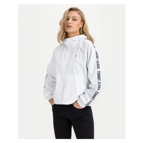 Tommy Jeans Repeat Logo Tape Jacket White Tommy Hilfiger