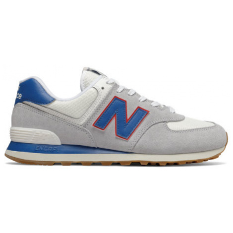 New Balance 574 Essentials Shoes - Light Aluminium/Classic Blue
