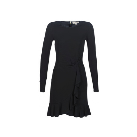 MICHAEL Michael Kors LS TWIST WAIST DRESS women's Dress in Black