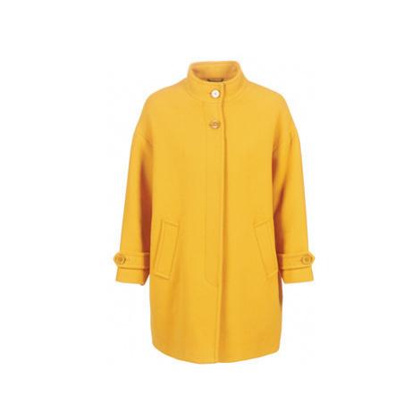 Benetton STORI women's Coat in Yellow United Colors of Benetton