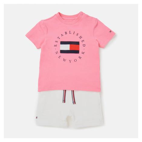 Tommy Hilfiger Baby Established Sweatshorts Set - Pink