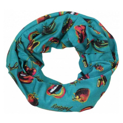 Finmark CHILDREN'S MULTIFUNCTIONAL SCARF green - Kids' multi-purpose scarf