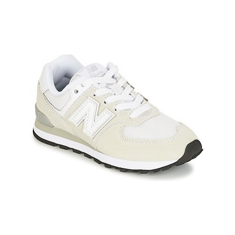New Balance 574 girls's Children's Shoes (Trainers) in White