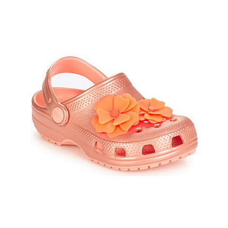 Crocs CLASSIC VIVID BLOOMS CLOG K girls's Children's Clogs (Shoes) in Pink