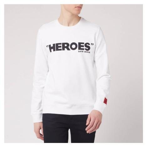 HUGO Men's Deroes Sweatshirt - White Hugo Boss