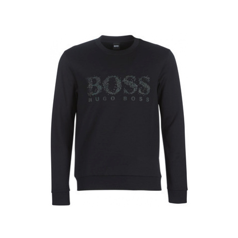 BOSS SALBO ICONIC men's Sweatshirt in Black Hugo Boss