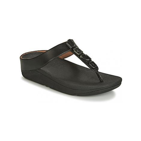 FitFlop FINO SHELLSTONE women's Flip flops / Sandals (Shoes) in Black