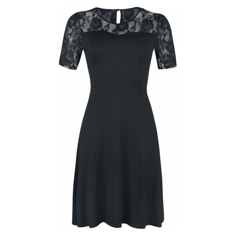 Forplay - Short Sleeve Lace Dress - Dress - black