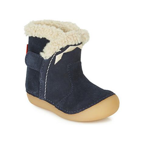 Kickers SOFUR girls's Children's High Boots in Blue
