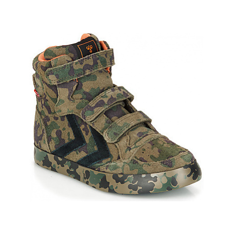 Hummel STADIL CAMO JR girls's Children's Shoes (High-top Trainers) in Green