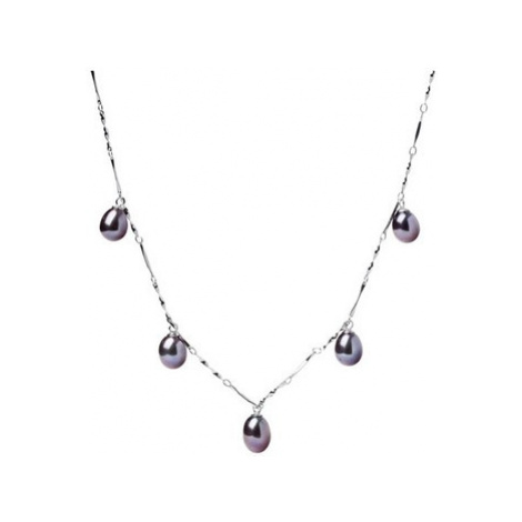 Blue Pearls BPS 1200 O women's Necklace in Black