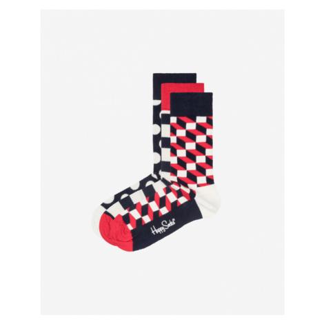 Happy Socks Stripe Set of 3 pairs of socks Blue Red