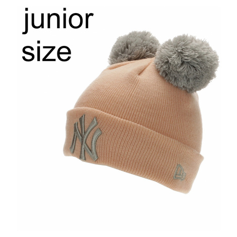 cap New Era Double Pom MLB New York Yankees Youth - Pink/Silver - girl´s