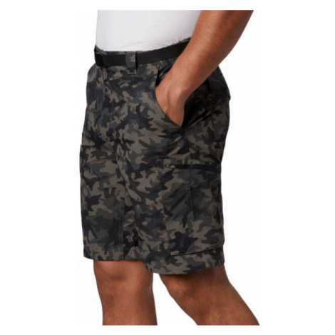 Columbia SILVER RIDGE PRINTED CARGO SHORT dark green - Men's cargo shorts