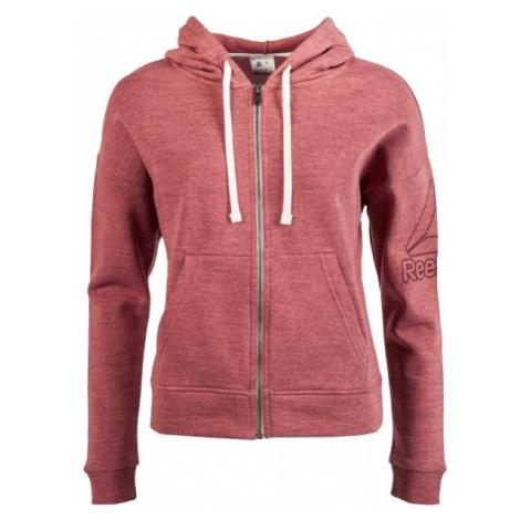 Reebok MARBLE FULLZIP red wine - Women's hoodie