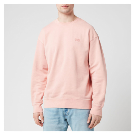 Levi's Men's Authentic Logo Crewneck Sweatshirt - Pink Levi´s