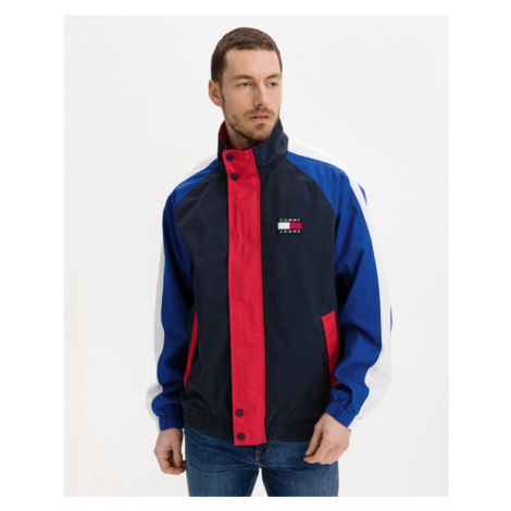 Tommy Jeans Badge Colorblock Jacket Blue Red Tommy Hilfiger