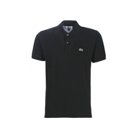 Lacoste POLO L12 12 REGULAR men's Polo shirt in Black