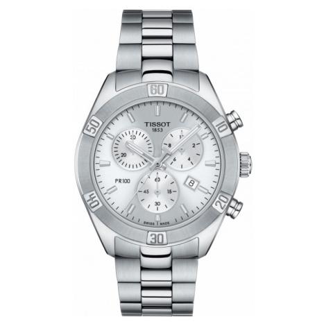 Ladies Tissot Pr100 Sport Chic Chrono Watch T1019171103100