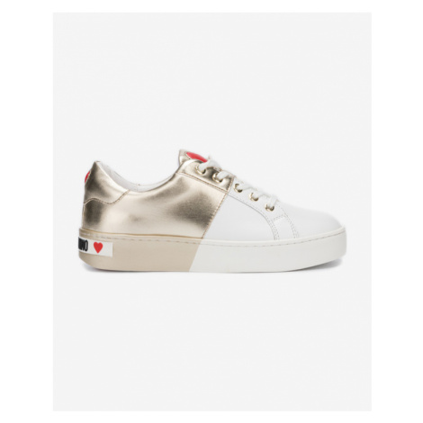 Love Moschino Sneakers White Gold
