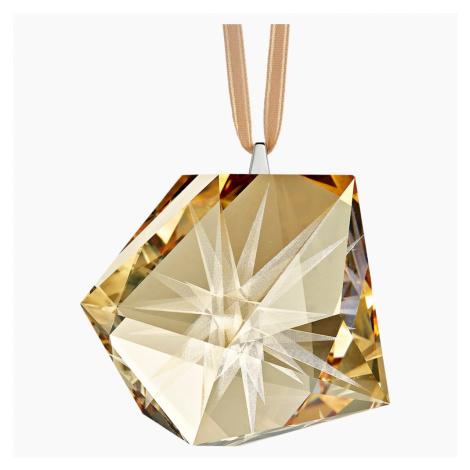 Daniel Libeskind Frosted Star Ornament, Golden Swarovski