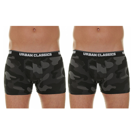 shorts Urban Classics Camo Boxer Shorts/TB2047 2 Pack - Dark Camouflage