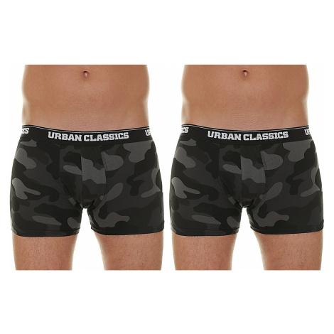 shorts Urban Classics Camo Boxer Shorts/TB2047 2 Pack - Dark Camouflage