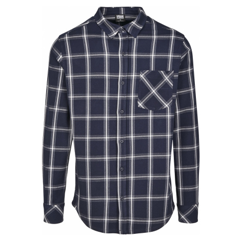Urban Classics - Basic Check Shirt - Shirt - navy-white
