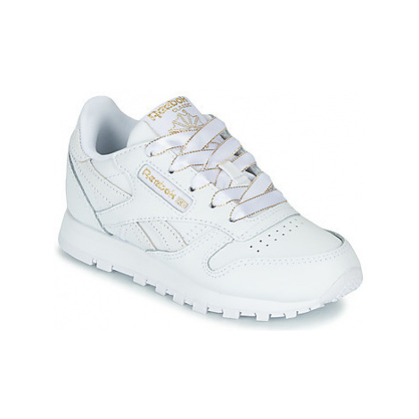 Reebok Classic CLASSIC LEATHER C girls's Children's Shoes (Trainers) in White