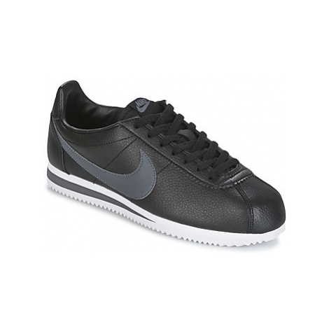 Nike CLASSIC CORTEZ LEATHER men's Shoes (Trainers) in Black
