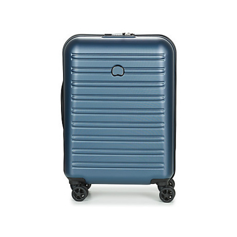 Blue women's suitcases and travel bags