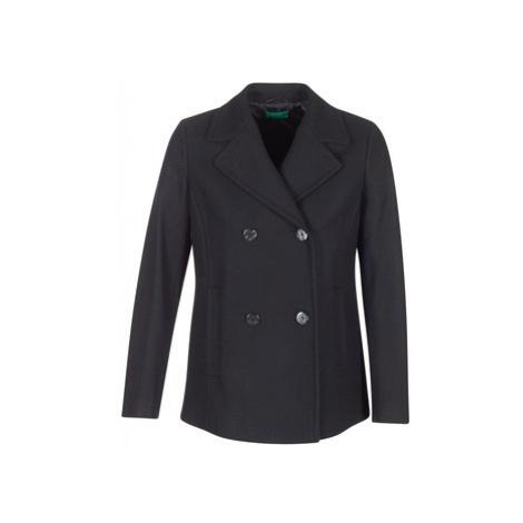 Benetton MOLOD women's Coat in Black United Colors of Benetton
