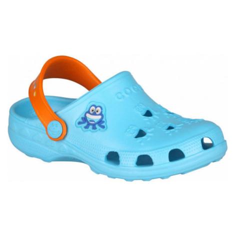 Coqui LITTLE FROG blue - Kids' sandals