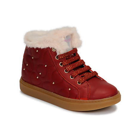 Pablosky 476362 girls's Children's Shoes (High-top Trainers) in Red