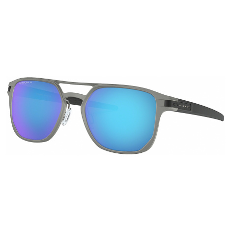 glasses Oakley Latch Alpha - Matte Light Gunmetal/Prizm Sapphire Polarized - men´s