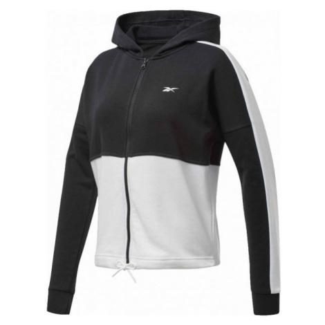 Reebok TE LINEAR LOGO FT FULLZIP black - Women's sweatshirt
