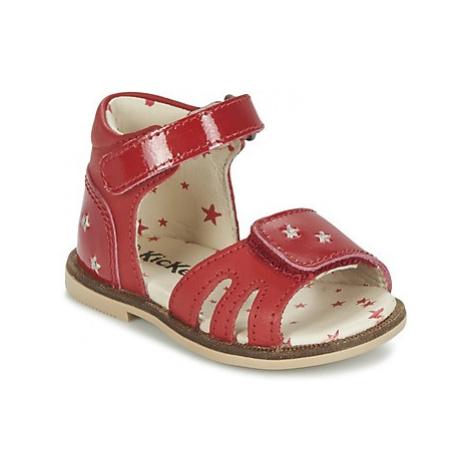 Kickers MOONSTAR girls's Children's Sandals in Red
