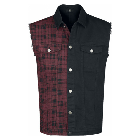 RED by EMP - Life Of An Easy Rider - Waistcoat - black-red