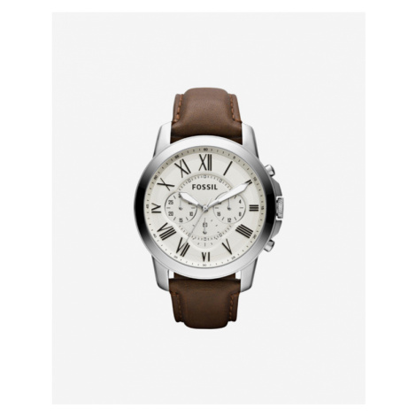 Fossil Grant Watches Brown Silver