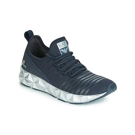 Emporio Armani EA7 ULTIMATE C2 SLIP ON U men's Shoes (Trainers) in Blue