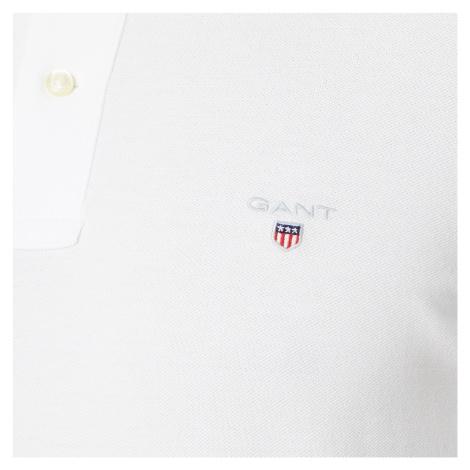 GANT Men's Original Pique Polo Shirt - White - White