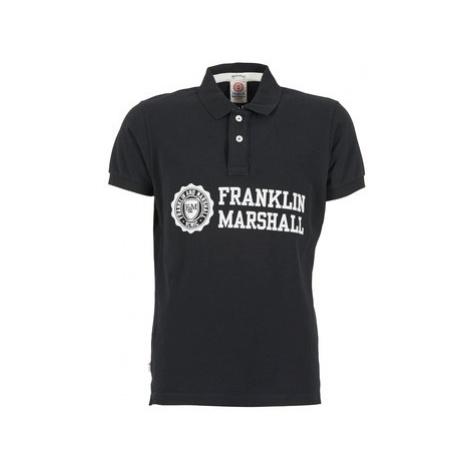 Franklin Marshall AYLEN men's Polo shirt in Black Franklin & Marshall