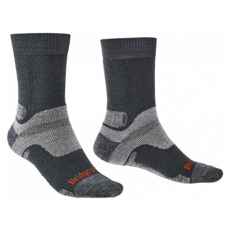 Bridgedale Mens Hike Midweight Merino Endurance Boot Socks-Gunmetal-12+