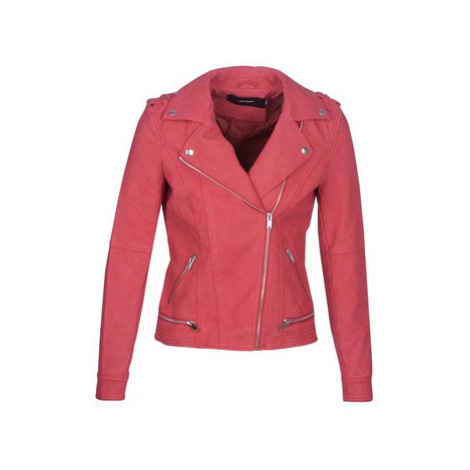 Vero Moda VMWORLD women's Leather jacket in Red