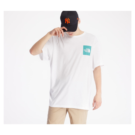 The North Face Fine Tee White/ Lagoon